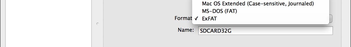 Disk Utility File System Formats
