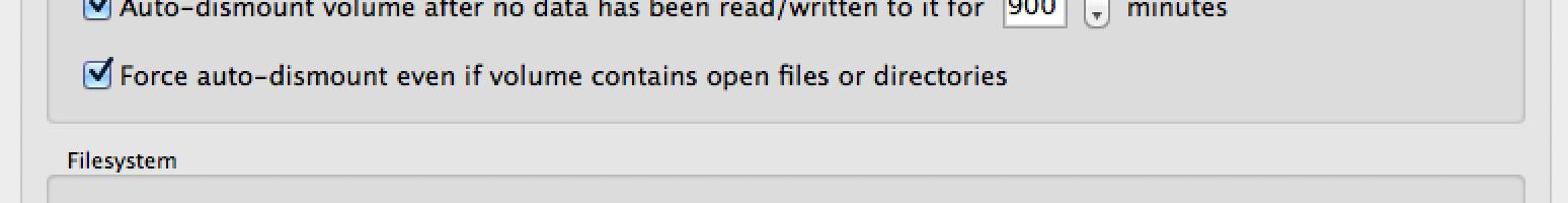 TrueCrypt settings